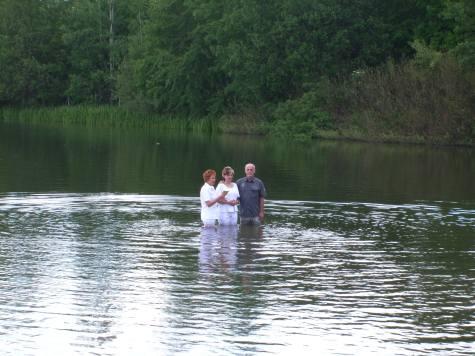 "Taufe Pfingsten 2012 am ""Großen Teich"" in Limbach-Oberfrohna"